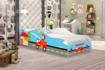 Cama Carro Infantil  Bombeiro, Quarto De Criança - Moveis Print