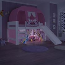Cama com Escorrega Barraca e Luz/LED Princesas Original Disney PuraMagia - Pura Magia