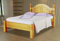 Cama De Casal Havana De Madeira Maciça Pinus - Bedroom