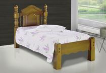 Cama De Solteiro Andressa De Madeira Maciça Pinus - Bedroom