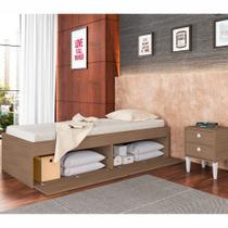 Cama de Solteiro com Baú 4 Portas Tókio CM800 Art in Móveis -