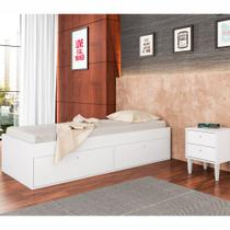 Cama de Solteiro com Baú e Criado Mudo CJ013 Art in Móveis -