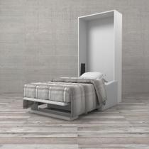 Cama de Solteiro Dobrável com Sofá Fold Branca - Etna