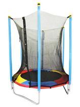 Cama Elástica 1,36 M Jump Kids Colorida Rede De Proteção - 7001 - Pelegrin -