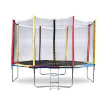 Cama Elástica 3,66m Pula Pula Trampolim Escada Colorida 12 Ft - Bhstore