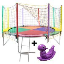 Cama Elástica Pula Pula 4.30M - Colorida + Gangorra - Império Kids Brinquedos