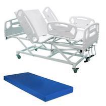 Cama Hospitalar Manual com Colchão D33 e Elevação do Leito Luxo - Desematec