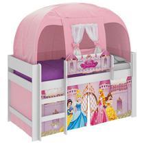 Cama Infantil Barraca Princesas Disney Branco - Pura Magia -
