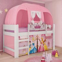 Cama Infantil Barraca Princesas Disney Rosa Pura Magia -