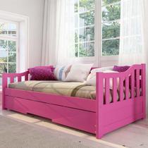 Cama Infantil Bicama American Em Madeira Maciça 1002 Rosa - Arbol Movelaria -