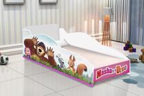 Cama infantil carro masha e o urso com colchão- lojas movex -