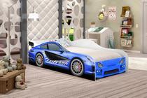 Cama Infantil Carro Race Azul, Moveis Para menino - Moveis Print