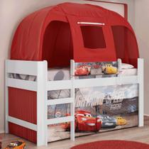 Cama Infantil Carros Disney com Barraca Vermelha Pura Magia -