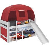 Cama Infantil Carros Disney Escorregador Barraca Branco/Vermelho - Pura Magia -