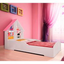 Cama Infantil Casinha Branco e Rosa - Gelius móveis