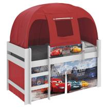 Cama Infantil com Barraca Carros Disney Play e Cortina Pura Magia -