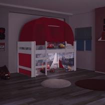 Cama Infantil com Barraca e Luz/LED Carros Original Disney Pura Magia -