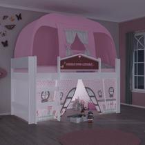 Cama Infantil com Barraca e Luz/LED Doce Casinha Play Pura Magia -