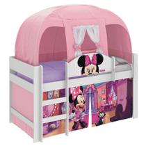 Cama Infantil com Barraca Minnie Disney Play Rosa Pura Magia -