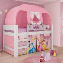 Cama Infantil com Dossel Barraca Princesas Disney Play Pura Magia -