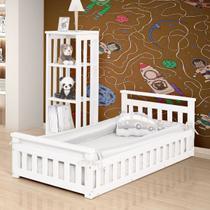 Cama Infantil com Grade Bella Branco - Madplast