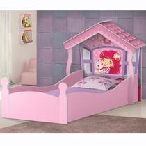Cama Infantil com Proteção Lateral Casa Moranguinho J&A Móveis -