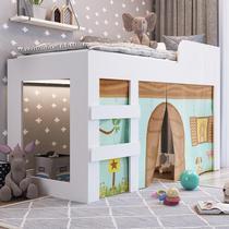 Cama Infantil Com Protetores E Cortina Recreação Meu Fofinho - Branco - Art in Móveis