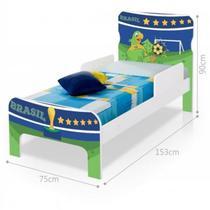 Cama Infantil Copa do Mundo Brasil Adesivada com Colchão - Casah