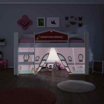 Cama Infantil Doce Casinha com Luz/LED Play Rosa Pura Magia -