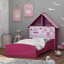 Cama Infantil Encanto 090 Pink Ploc - Gelius -