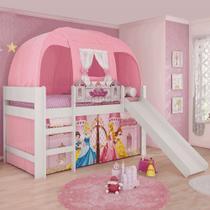 Cama Infantil Escorrega Barraca Princesas Disney Pura Magia -