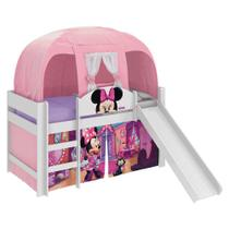 Cama Infantil Escorregador Barraca Minnie Disney Pura Magia -