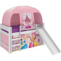 Cama Infantil Escorregador Barraca Princesas Disney Branco -  Pura Magia -