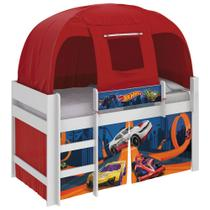 Cama Infantil Hot Wheels com Barraca Vermelha Pura Magia -