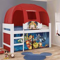Cama Infantil Mickey Disney com Barraca Vermelha Pura Magia -