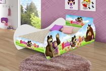 Cama infantil/ mini cama infantil carruagem masha e o urso c/ colchão lojas movex -