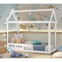Cama infantil Montessoriana Analu casinha Branco Fosco - Carolina Baby -