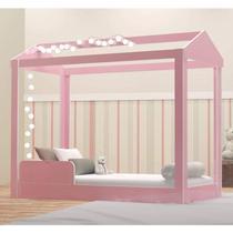 Cama Infantil Montessoriana Crystal Baby J&A Móveis Rosa -