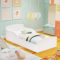 Cama Infantil Montessoriana Sonho com Colchão D20 - Branca - RPM Móveis -