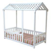 Cama Infantil Montessoriano Casinha com Grade Bruna - Madplast