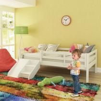 Cama Infantil Prime com Grade de Proteção e Kit Escadinha/ Escorrega Casatema -