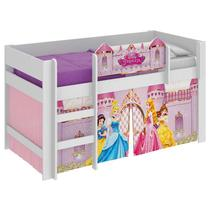 Cama Infantil Princesas Disney Play e Barraca Branco - Pura Magia -
