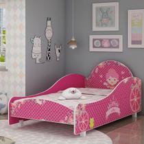Cama Infantil Princesinha 090 com Pés Pink Ploc - Gelius -
