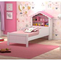 Cama Juvenil Casinha de Princesa Branco/Rosa - Vitamov