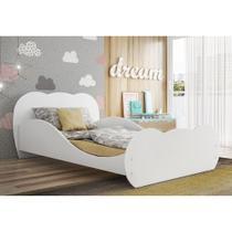 Cama Juvenil/Solteiro Safira MDF Branco Premium Multimóveis para colchão 188 x 88 cm -