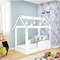 Cama Mini Casinha Montessoriana Infantil Azul - Djd Móveis