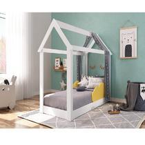 Cama Mini Casinha Montessoriana Infantil Branca Amarelo - Completa Móveis