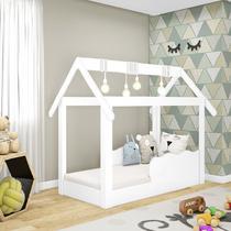 Cama Mini Casinha Montessoriana Infantil Branco - Djd Móveis