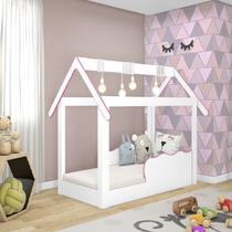 Cama Mini Casinha Montessoriana Infantil Rosa - Djd Móveis