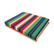 Cama Modernpet Deck de Madeira Listrada para Cães - Tamanho G -